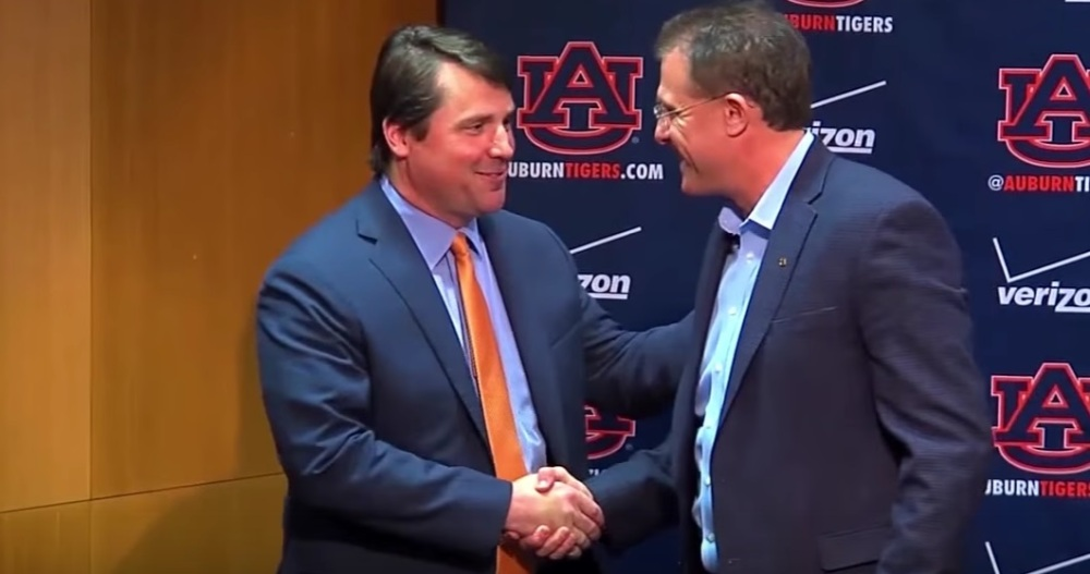 Gus Malzahn and Will Muschamp